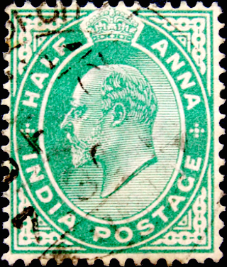Индия 1906 год . King Edward VII 0,5 a . (1)